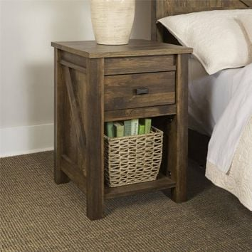 Better Homes and Gardens Falls Creek Night Stand, Weathered Dark Pine - Walmart.com