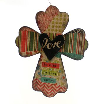Home Decor Love Wall Cross Sign / Plaque