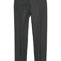 Cigarette trousers - Black/Pinstriped - | H&M GB