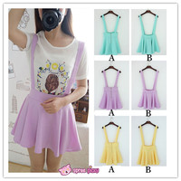 [ 6 Colors] 3 Styles Candy Suspender Skirt SP151886