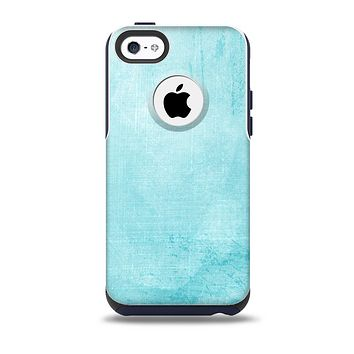 The Vintage Blue Textured Surface Skin for the iPhone 5c OtterBox Commuter Case