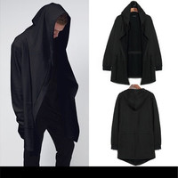 Original design Autumn Winter men's clothing sweatshirt hoodie men hood cardigan black cloak outerwear [8833539148]