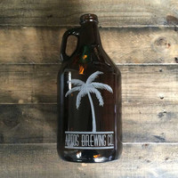 Custom Beer Growler 64oz – Laser Engraved Growler – Groomsman, Birthday, Homebrew, Christmas, Craft Beer, Cold Brew