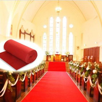 10m/20m Polyester Large Red Carpet Wedding Aisle Floor Runner Carpet Rug Hollywood Awards Events Wedding Party Events Decoration