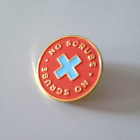 No Scrubs enamel lapel pin