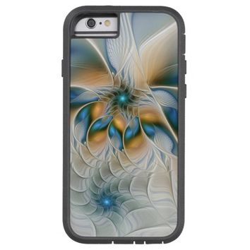 Soaring, Abstract Fantasy Fractal Art With Blue Tough Xtreme iPhone 6 Case