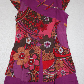 Purple babydoll cotton dress
