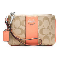 COACH SIGNATURE SMALL WRISTLET - COACH - Handbags & Accessories - Macy's