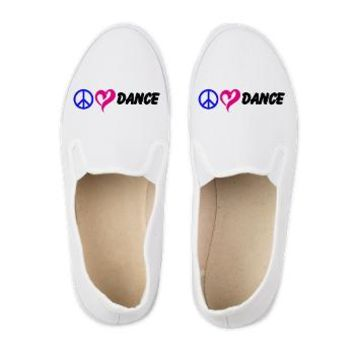 Peace Love Dance Canvas Shoes