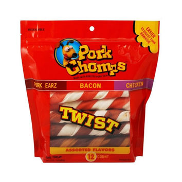Pork Chomps Large Twistz - Assorted