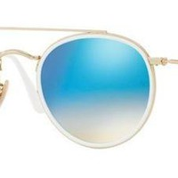 RAY BAN 3647/N 51 DOUBLE BRIDGE 001/4O GOLD CRYSTAL SUNGLASSES SUNGLASSES