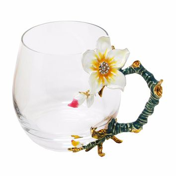 KEYTREND Novelty Glass Flower Cups
