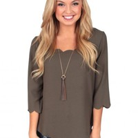 Call Me Maybe Top In Olive | Monday Dress Boutique