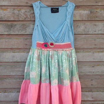 Francesca dress-medium large-eco clothing-upcycled clothing -Free People inspired-by Andys Summer design