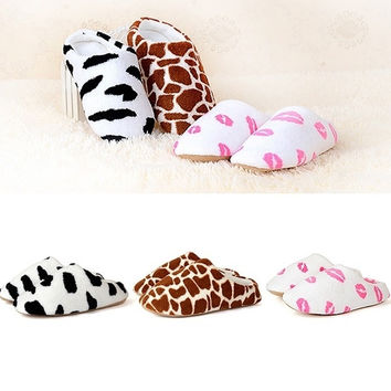 Men Women Soft Winter Non-slip Slippers Cotton Sandal House Home Anti-slip Shoes = 1930545412