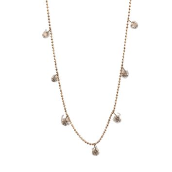 Floating Diamond Necklace - 18k Gold