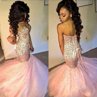 Sexy Long mermaid Evening Formal Party Ball Gown Prom Bridesmaid Dress Custom