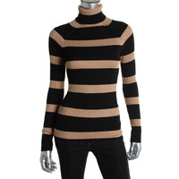 INC Womens Ribbed Knit Metallic Pullover Sweater