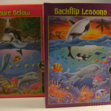 Jigsaw Puzzles Glows Undersea Series Treasure Below Backflip Lessons 100 Pcs NEW