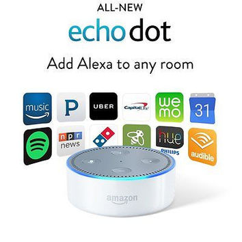 Amazon Echo Dot 2nd Generation 2016 w/ Alexa Voice Media Device - White