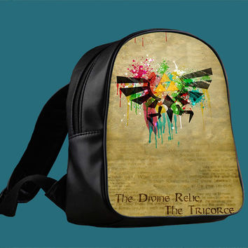 Zelda Hylian Paint Splatter for Backpack / Custom Bag / School Bag / Children Bag / Custom School Bag *