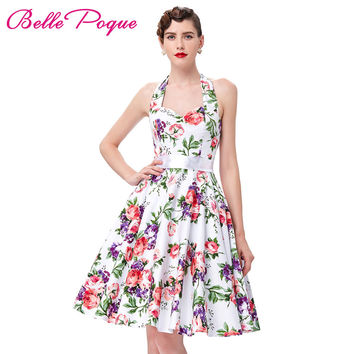 Real Picture 50s rockabilly dresses floral print retro Vintage 60s party dress Pinup Swing Audrey Hepburn dress Grace Karin 2016