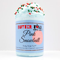 Pink Snowball Whipped Body Soap Fluff 8oz