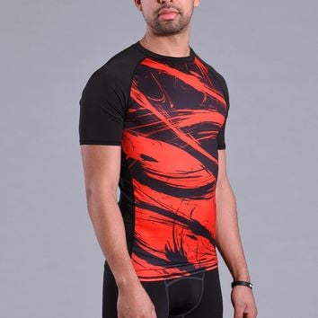 Fury Red Short Sleeve Compression Jersey