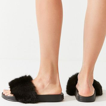 UO Faux Fur Slide | Urban Outfitters