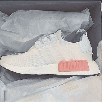 """Adidas"" NMD Fashion Sneakers Trending Running Sports Shoes White-pink H"
