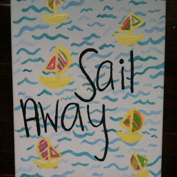 Lilly pulitzer pattern You Gotta Regatta by JennaLynnsArt on Etsy