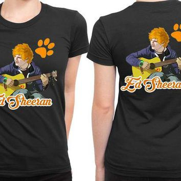 DCCKL83 Ed Sheeran Cartoon Boat Session 2 Sided Womens T Shirt