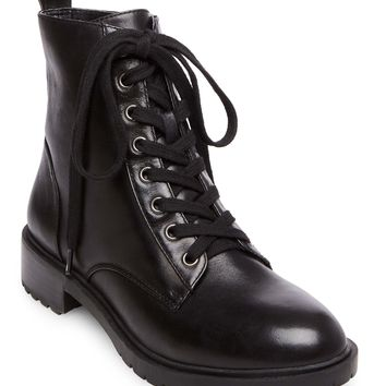 Officer Leather Combat Boots