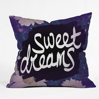 Deny Designs Sweet Dreams Throw Pillow Purple One Size For Women 23687875001