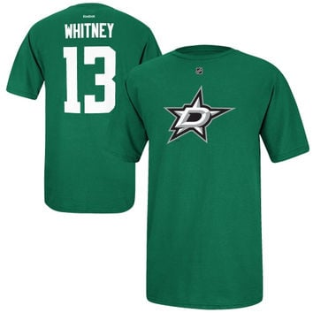 Ray Whitney Dallas Stars Reebok Name and Number Player T-Shirt – Green