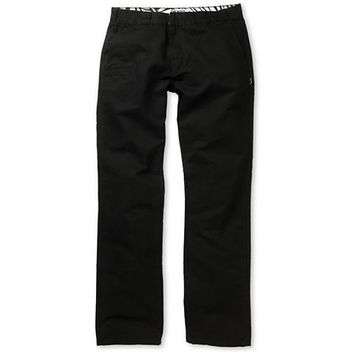 Trukfit Solid Black Regular Fit Chino Pants
