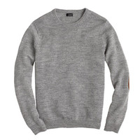 J.Crew Mens Tall Rustic Merino Elbow-Patch Sweater