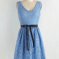 Pastel Mid-length Sleeveless Fit & Flare Save the Lace Dance Dress