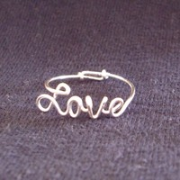 Personalized Script Gold Wire Name Ring by WireNameMike on Etsy