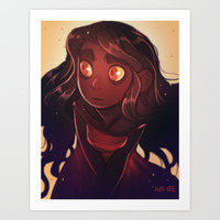 Fire Eyes Art Print by Ava's Demon Print Shop!
