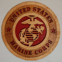 """Laser cut   """"United States MARINE CORPS""""  wall plaque"""