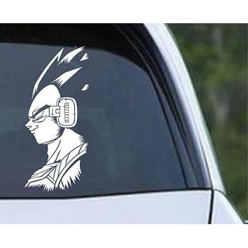 DBZ Dragon Ball Z Vegeta Silhouette Anime Die Cut Vinyl Decal Sticker