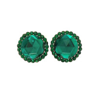 Emerald crystal plugs / 00g, 1/2, 5/8, & 3/4 inch / emerald plugs / sparkle gauges / wedding plugs / sparkle plugs / crystal gauges
