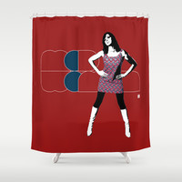 Mod Woman Shower Curtain by Matt Irving
