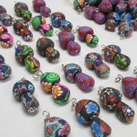 FIMO MUSHROOM Pendants New lot 50 SHROOMS Focal Beads