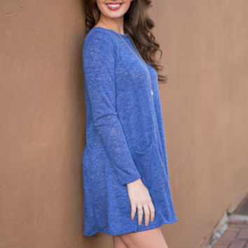 Couch Party Tunic, Blue