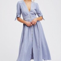 free people - love of my life midi dress - blue
