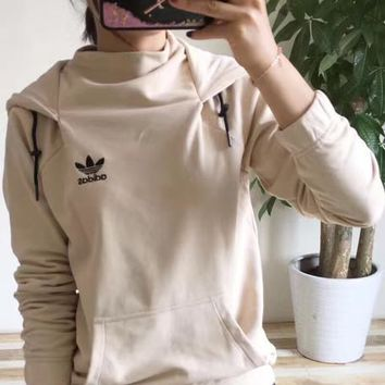 shosouvenir £º Adidas Originals Women Fashion Hooded Top Pullover Sweater Sweatshirt H