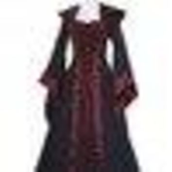 Renaissance Women Scary Costumes Medieval Maiden Fancy Cosplay Over Dress halloween costumes women Victorian Dress Scary Costume