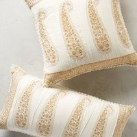 Embroidered Paisley Pillow by Anthropologie